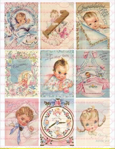 9+Vintage+Baby++Bügelbilder++Antik+DIN+A4+von+Doreen`s+Bastelstube++-+Kreativ+&+Außergewöhnlich+auf+DaWanda.com