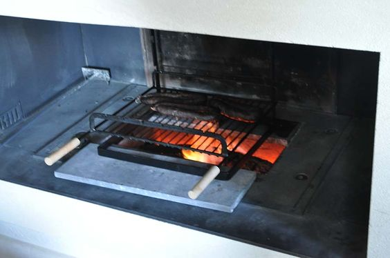 Grillades et barbecue dans la chemin e avec polyflam grill and barbecue in fireplace with - Barbecue avec cheminee ...