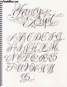 Letras para Tatuajes Cursiva Abecedario (1)