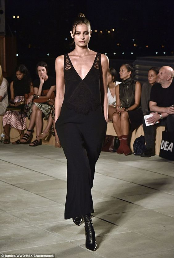 Big gig: To kick off Fashion Week on September 8, she closed the Thakoon show in a silk and lace jumpsuit