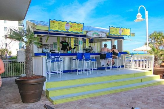 Poolside cafe.  Paradise Resort Condos for Sale | Myrtle Beach Condos   #paradiseresort  http://www.c21theharrelsongroup.com/paradise-resort/