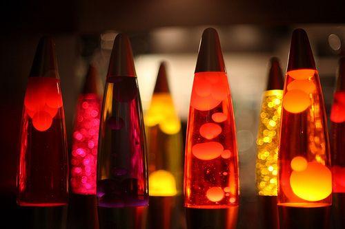 Lámparas de Lava naranja