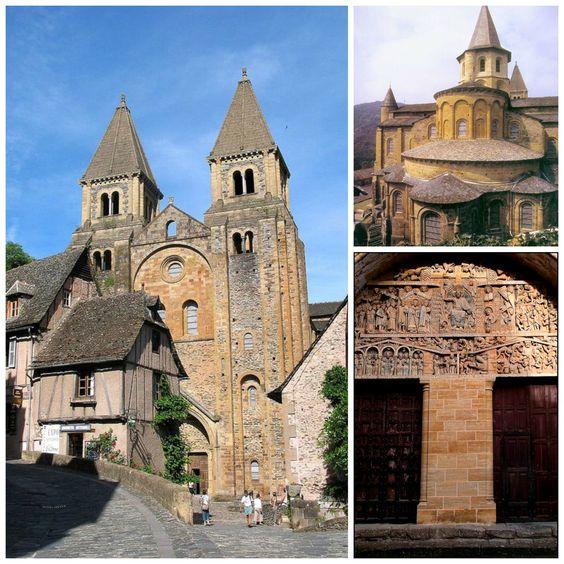 A Abadia de Saint-Foy, de estilo românico, era parada obrigatória dos peregrinos do caminho de Santiago de Compostela. Fotos: Pinterest/Reprodução