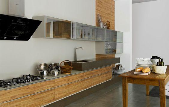 Vidro espelhado na cozinha também pode! <3