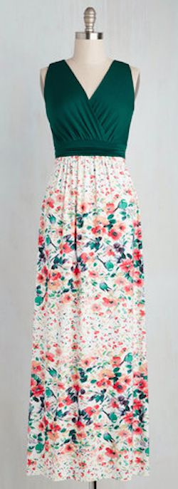 sweet countryside maxi dress