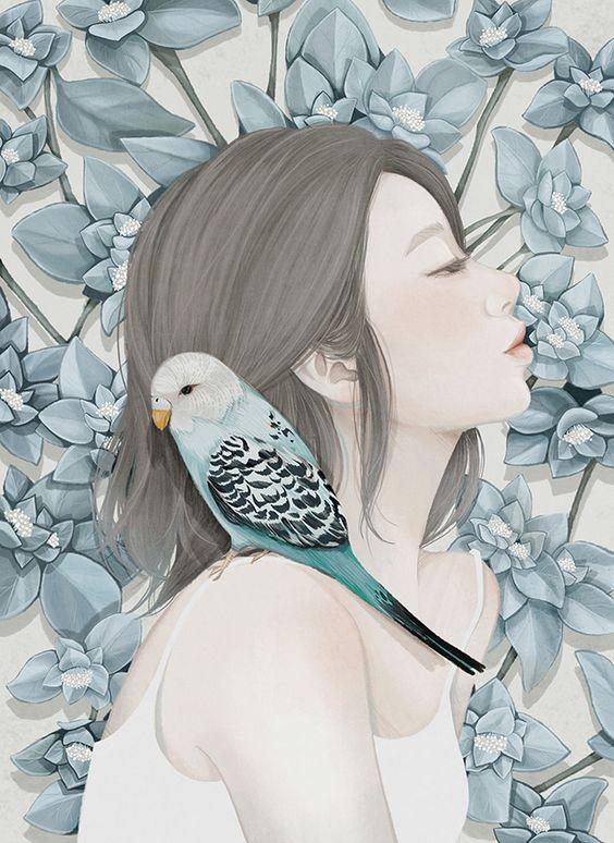 Entre flores… Mi-Kyung-Choi – Cuaderno de retazos