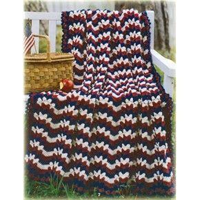 All American Crochet Afghan Pattern Free : American waves afghan crochet pattern Crochet American ...