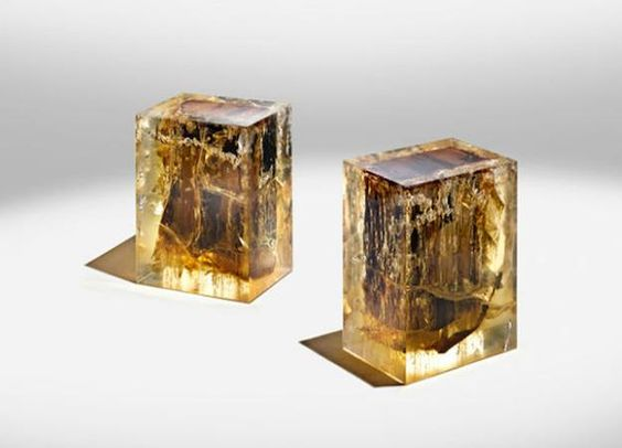 Encased in Epoxy Resin Wood Furniture Collection Unique Furniture