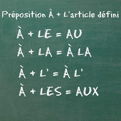préposition à + article défini