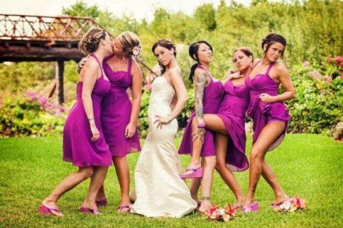 bridesmaid pose! lol