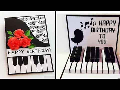 Happy Birthday Piano 3d Popup Card Handmade Birthday Card Idea Youtube Happy Birthday Piano Happy Birthday Cards Handmade Happy Birthday Cards Diy