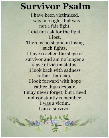 I am a survivor...