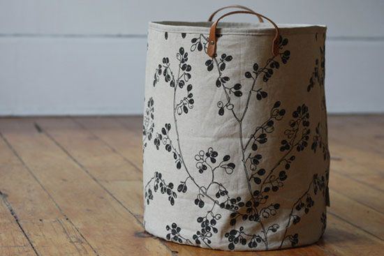 Decorating with pattern: Berry hamper