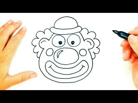 Como Dibujar Un Payaso Paso A Paso Dibujo Facil De Payaso Youtube Payasos Garabatos Simples Dibujo Facil