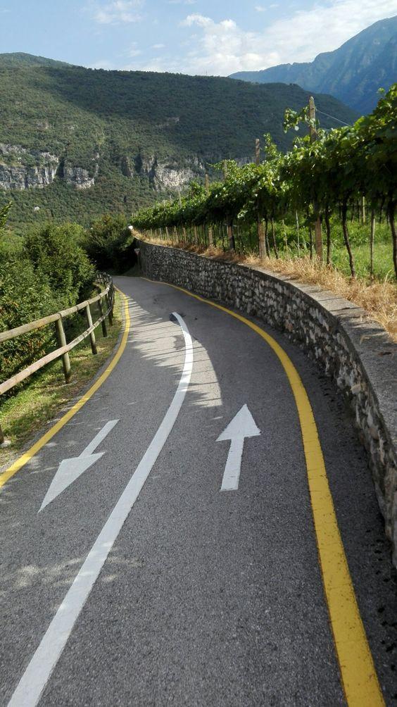 Pista ciclabile della Vallagarina: Trento - Rovereto - Avio - Trento, Italy