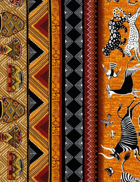 pintura africana tecido - Pesquisa Google