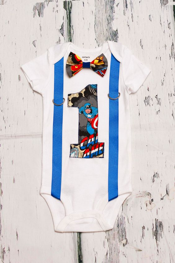 captain america theme super hero bow tie and suspenders set boy cake smash boy first year. Black Bedroom Furniture Sets. Home Design Ideas