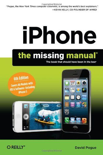 Iphone The Missing Manual Book App Ebook Tech Books
