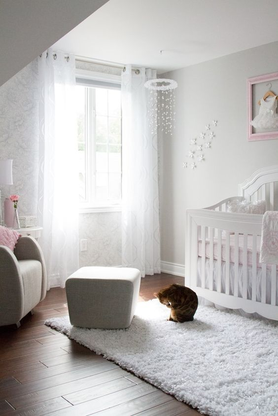 Pink and Gray Baby Girl Nursery Tour — Oh She Glows: