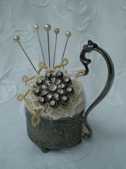 Beautiful pincushion - made by Karen.