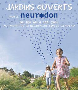 Des jardins ouverts à la visite pour le Neurodon. Du 1er au 4 mai 2014 à Longues-sur-Mer.