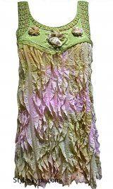 AP Cordelia Victorian Shirt Dress In Green & Pink