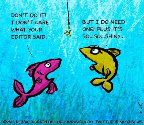 """Just posted """"A Good Hook"""" on Writer Unboxed. To see my other WU comics: http://writerunboxed.com/author/debbie-ohi/"""