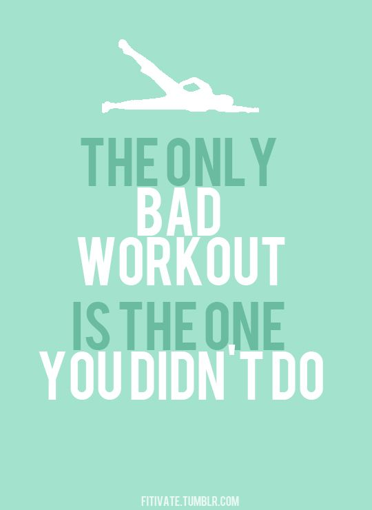 Get active this August! The only bad workout is the one you didn't do!