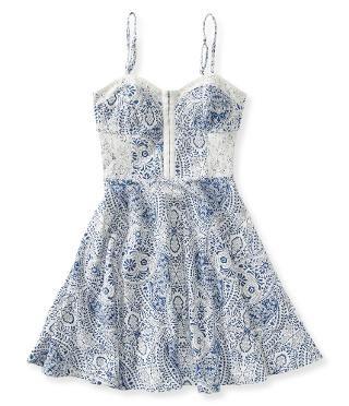 Paisley Bustier Dress - Aeropostale