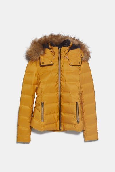 Kapusonlu Suni Kurklu Kus Tuyu Sisme Mont Zara Turkiye In 2020 Faux Fur Hood Faux Fur Hooded Jacket Down Jacket