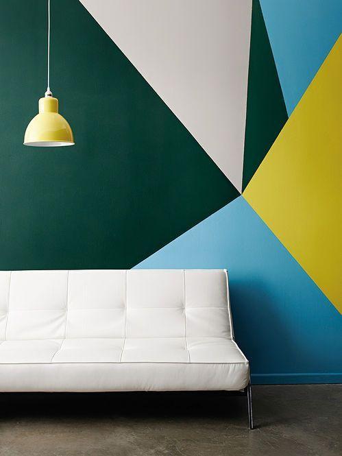 Casinha colorida: Tendência 2016: pintando as paredes com padrões geométricos (como fazer):