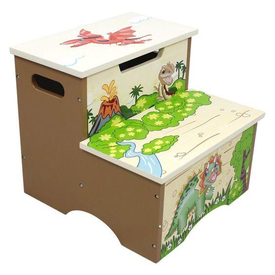 Fantasy Fields Dinosaur Kingdom Storage Step Stool - TD-0083A