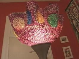 Once Mardi Gras has passed recycle your beads into a brightly colored lamp.