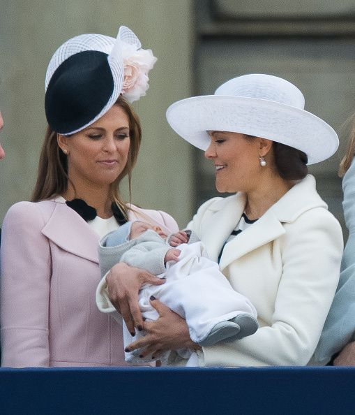 Princess Madeleine of Sweden Prince Oscar of Sweden and Crown Princess Victoria of Sweden attend the choral tribute and cortege during the...
