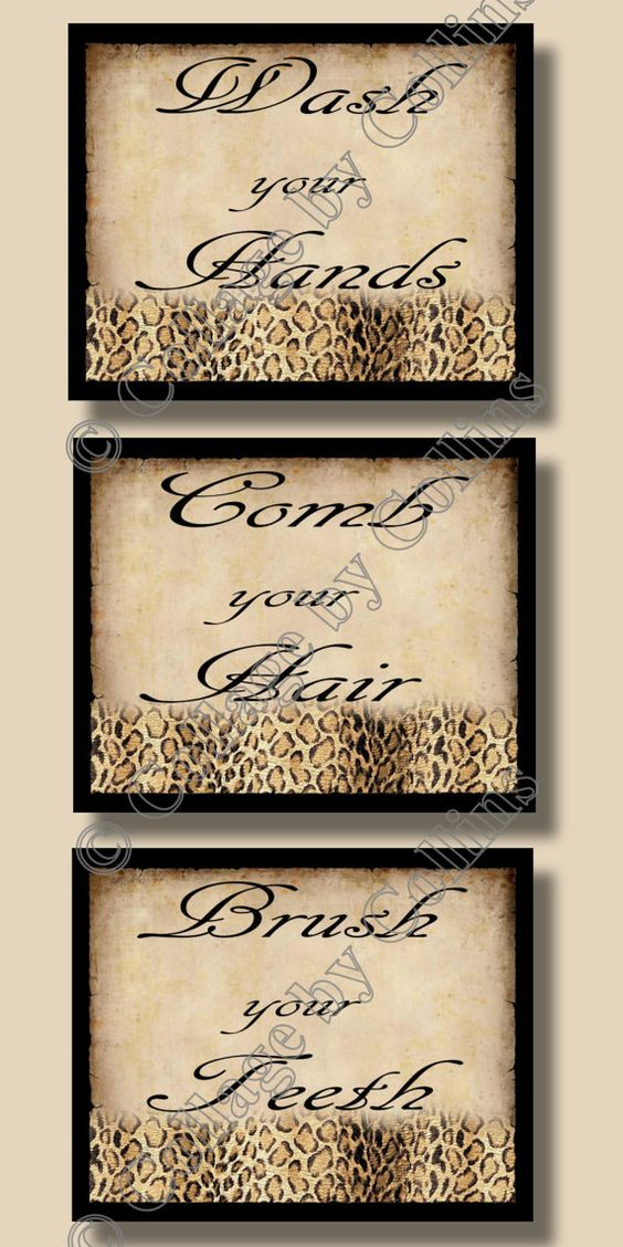 Wall word art leopard print bathroom and wall words on for Decoration word