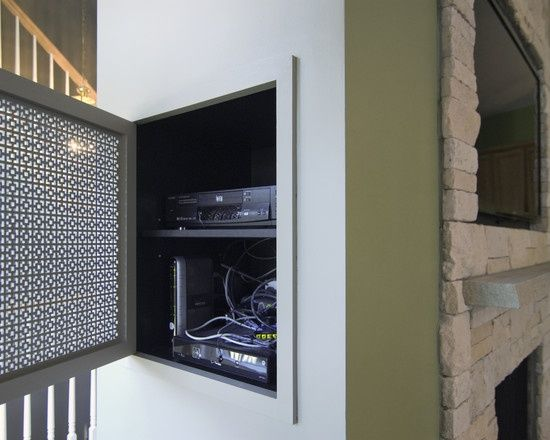 25 creative ways to organize your family s electronics Hide fireplace ideas