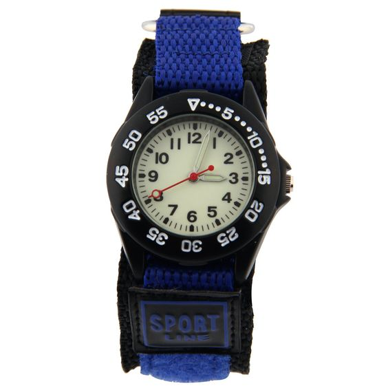 "Vavna Kids Sports Watch Luminous Dial Velcro Deep Blue Nylon Strap Birthday Christmas Gift for Boys Girls. The perfect starter timepiece for a child, the watch features a sturdy black canvas band that attaches with easy-to-fasten Velcro. Luminous dial, good use even at night. 60 time scales good for Time Teacher. Dial 1.3"" wide. Quartz movement with analog display.Protective mineral crystal dial window. Very fashionable and stylish. Makes a great gift!."
