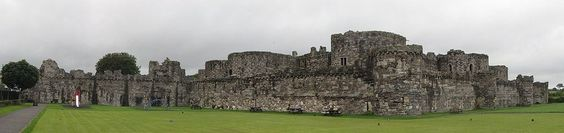 Beaumaris Castle, 1295AD, Wales    Beaumaris Castle, located in the town of the same name on the Isle of Anglesey in Wales, was built as part of King Edward I's campaign to conquer the north of Wales. It was designed by James of St. George and was begun in 1295, but never completed.