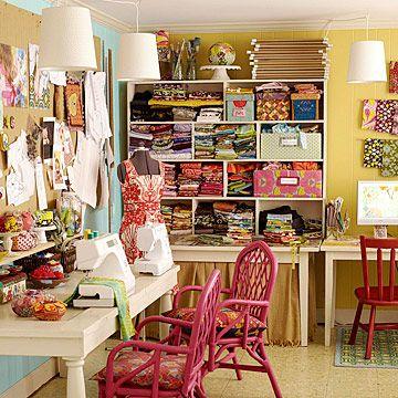 craft room, sewing room