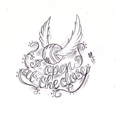 Harry Potter Drawing At Getdrawingscom Schnatz Tattoo Tatowierung Skizzen Harry Potter Tattoos