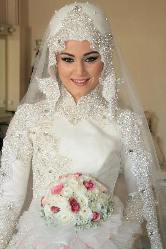 Latest Bridal Hijab Dresses Designs Collection 2016-2017 (3)