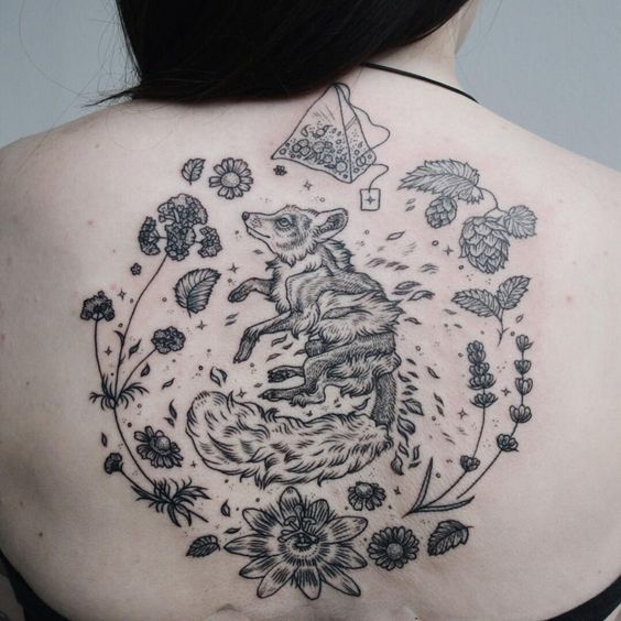 Tatuagens inspiradas na natureza combinam gravuras de estilo vintage de fauna e flora 06