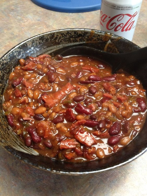Beans cooked and smoked on Traeger smoker | Food cooked on Traeger ...