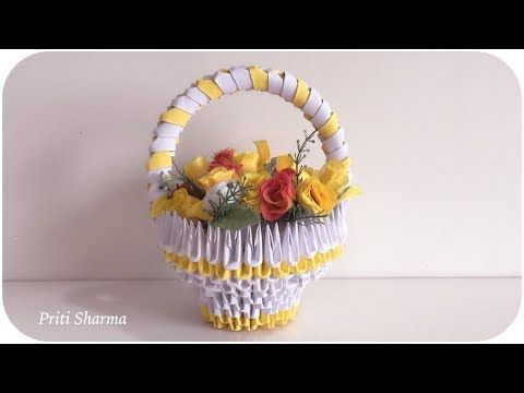 how to make a 3d origami fruit basket - YouTube   360x480