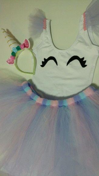 Caia De Tutu Camiseta Branca E Tiara De Unicornio Unicorn Birthday Parties Unicorn Birthday Unicorn Party