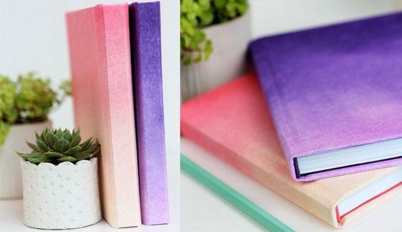 ideas decorar tus cuadernos degradado