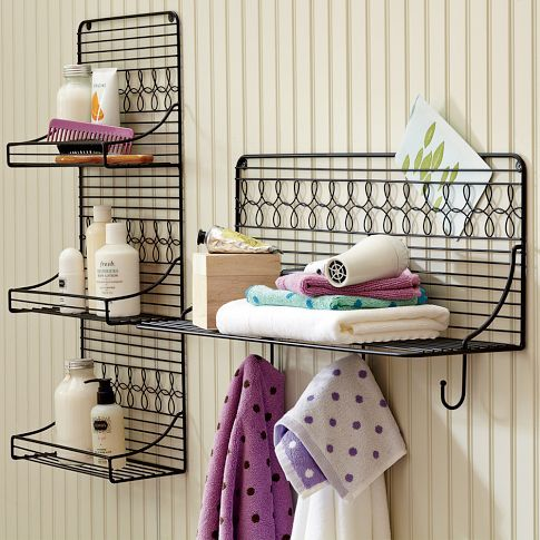 Cute Wire Bath Shelving from PBTeen. A nice way to organize things ...