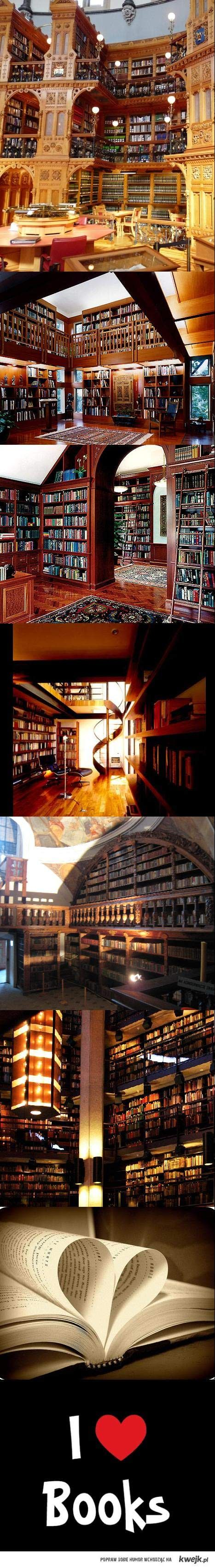 I love books.