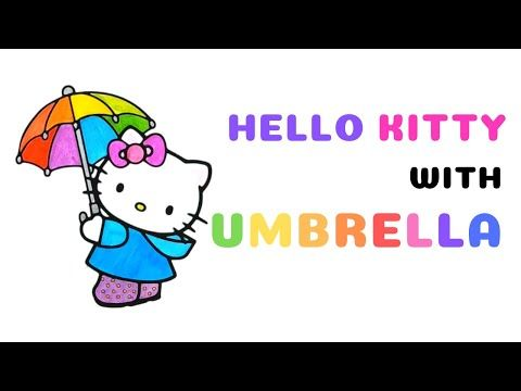 Umbrella With Hello Kitty Coloring Pages Drawforkid Coloringbook Draw Hellokitty Learnpaint Youtu Hello Kitty Coloring Drawing For Kids Coloring Books