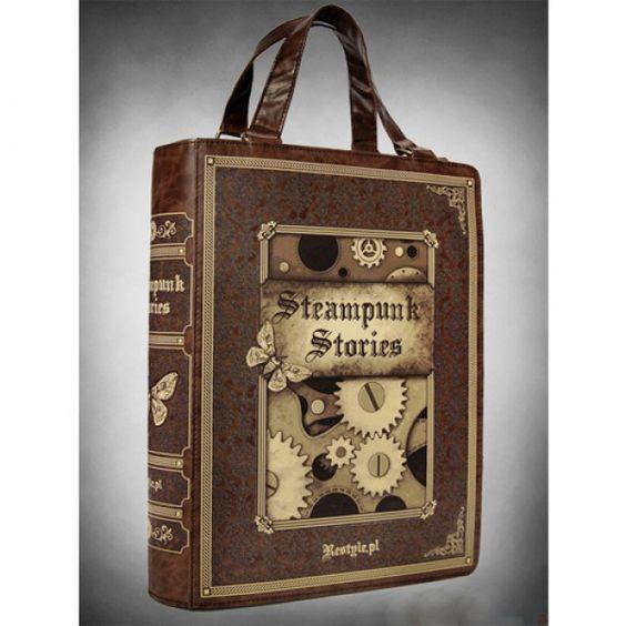 Steampunk Book Shaped Bag